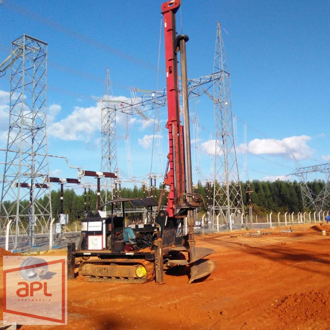 Estaca escavada para subestação de energia elétrica